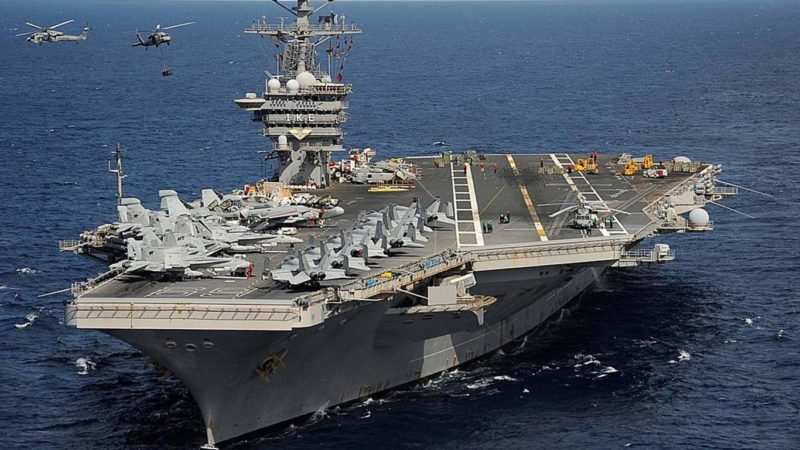 US Navy Aircraft Carrier Ike