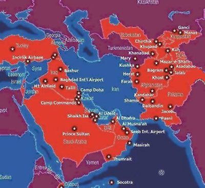 Military Bases around Iran